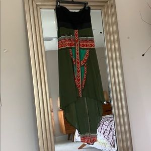 High Low Boho Hippie Tribal Dress